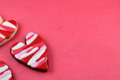 Hearts. Heart cookies valentine's day background stock photos