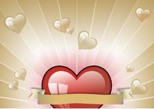 HEARTS. One illustration of hearts , st. valentin, background Royalty Free Stock Photos