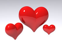 Hearts 3D Royalty Free Stock Photography
