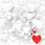 Hearts 3d background Royalty Free Stock Image