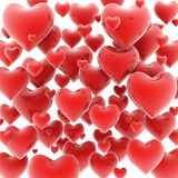 Hearts 3d background Stock Photo