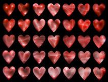 Hearts 4. Hearts background, internal phosphorescence simulating Royalty Free Stock Photography