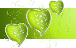 Hearts. Valentines Day card easy to resize or change color Royalty Free Stock Photography