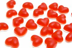 Hearts. Sweets in the form of hearts Stock Photography