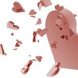 Hearts. 3d hearts vector illustration