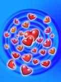 Hearts. Flying hearts Stock Photos