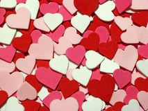 Hearts. Glitter hearts in red, pink and white stock photos