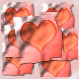 Hearts. Generated in PS. Happy Valentine's Day Royalty Free Stock Image