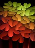 Hearts 5. Hearts in different colors on a black background Royalty Free Stock Photo