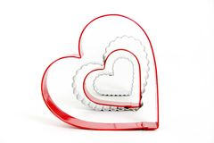 Hearts. Heart cookie cutters with white background Stock Photo