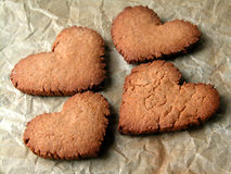 Hearts. Honey cookies - hearts Royalty Free Stock Images