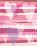 Hearts. Illustration of hearts in pink background Royalty Free Stock Image