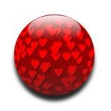 Hearts. Ball of love hearts stock illustration