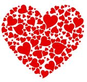 Hearts. Heart formed from small hesrts Stock Images