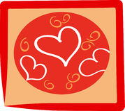 Hearts. Heart background. Vector illustration. Suits well for a postcard or background Royalty Free Stock Photos