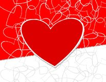 Hearts abstract Stock Photography