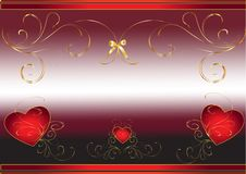 Hearts Abstract Background Royalty Free Stock Photos