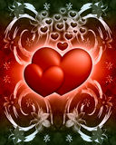Hearts on a abstract background Royalty Free Stock Photography