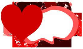 Hearts on abstract background. An heart on an abstract background in red tones. an idea to talk about love Stock Images
