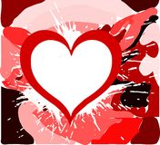 Hearts on abstract background isolated. An heart on an abstract background in red tones. an idea to talk about love royalty free illustration