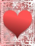 Hearts on abstract background Royalty Free Stock Images
