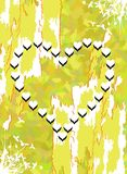 Hearts on abstract background Royalty Free Stock Photo