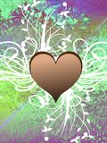 Hearts on abstract background Stock Photo