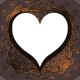 Hearts on abstract floral background Royalty Free Stock Photos