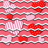 Hearts Abstract Valentine background Royalty Free Stock Photos