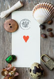 Hearts Ace. Composition wwith hearts ace and vintage stuff Stock Images