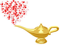Hearts from Aladdin lamp Royalty Free Stock Images