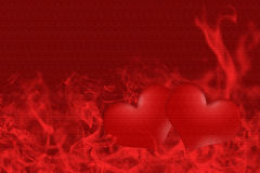 Hearts all for love Royalty Free Stock Photography
