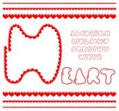 Hearts alphabet Stock Image