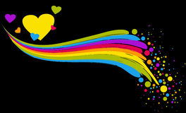 Hearts And Colors Royalty Free Stock Photos