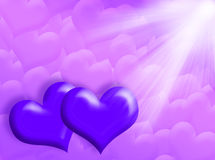 Hearts And Light Royalty Free Stock Photography