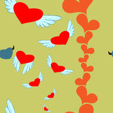 Hearts angel and devil Royalty Free Stock Images