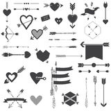 Hearts and Arrows Set Stock Photography