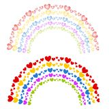 Hearts as Colorful Rainbows Clip Art Royalty Free Stock Images