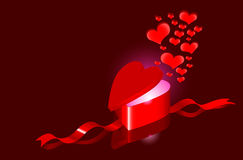 Hearts as love present Royalty Free Stock Photography