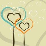 Hearts as trees Stock Photo