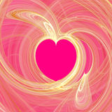 Hearts backgraund. Abstract 3d illustration Stock Photos