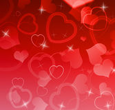 Hearts background Royalty Free Stock Images