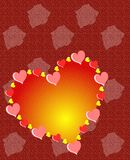 Hearts background with stylized flowers Royalty Free Stock Photography