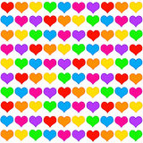 Hearts background. Background with lots of colorful hearts Royalty Free Stock Photos