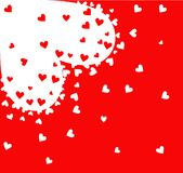 Hearts Background. Red Valentine's day background with hearts Royalty Free Stock Images