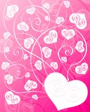 Hearts background. In pink  color. Vector illustration Stock Photos