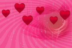 Hearts background Royalty Free Stock Photography