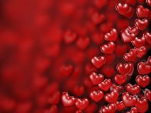 Hearts Background. Beautiful red hearts background for Valentine day Royalty Free Stock Photo