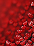 Hearts Background. Beautiful background of red hearts Royalty Free Stock Photos