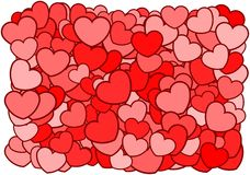 Hearts Background. Vector illustration of hearts background Royalty Free Stock Photos